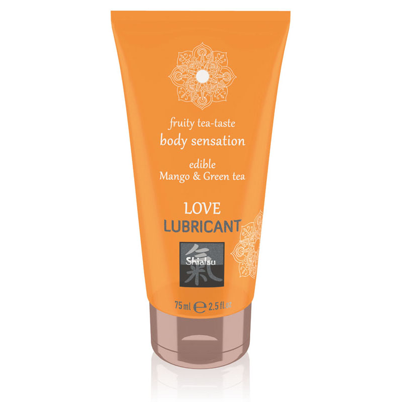 Shiatsu Edible Love Lubricant 75ml - Mango & Green Tea